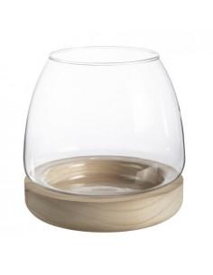 Ibarra-Glass sur socle Bois